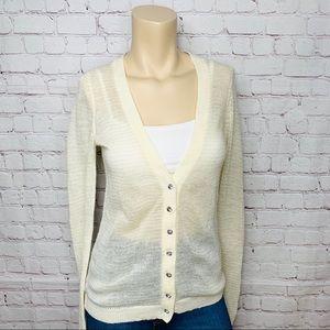 EXPRESS Holiday Cardigan Sweater Rhinestones Sz S